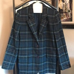 Plaid Blazer Chadwick's Classic Sz 12; wool blend